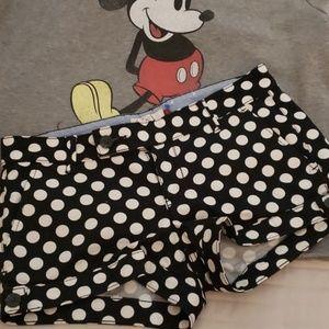 Polka dot shorts size 5